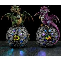 LED Celtic Orb Elements Dragon Figurine (1 Random Supplied)