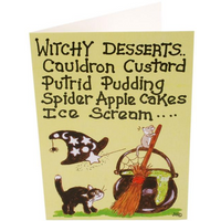 Pack of 6 Witchy Desserts Smiley Cards