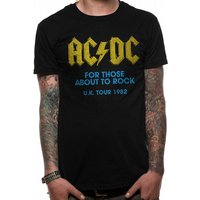 AC/DC - For Those About To Rock Logo Men's X-Large T-Shirt - Black