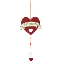 Merry Christmas Heart Hanging Decoration