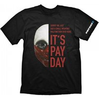 Payday 2 Mens Wolf Mask Small T-Shirt, Black