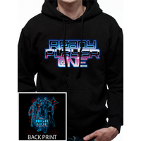 Ready Player One - High Five Men's X-Large Hooded Sweatshirt - Black