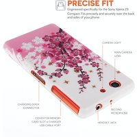 YouSave Accessories Sony Xperia Z3 Compact Floral Bee Gel Case - Pink-White