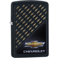 Zippo Chevrolet Logo Black Matte Finish Windproof Lighter