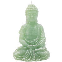 Green Sitting Buddha Candle