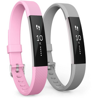 Yousave Activity Tracker Strap Pink/Grey - Small (2 Pack)