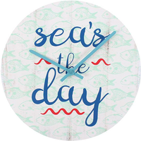 Sea's the day Wall Clock