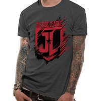Justice League Movie - Shield Men's Small T-Shirt - Grey