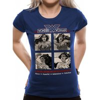Wonder Woman - Retro Squares Women's Small T-Shirt - Blue