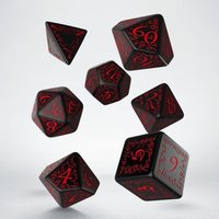 Q-Workshop Elvish Black & Red Dice Set