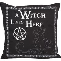 A Witch Lives Here 40cm Cushion