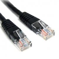 1 ft Black Molded Cat5e UTP Patch Cable