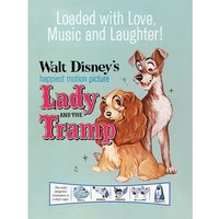 Lady and the Tramp - Love, Music and Laughter Canvas