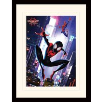 Spider-Man Into The Spider-Verse - Swing Mounted & Framed 30 x 40cm Print
