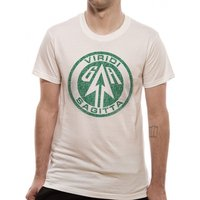 Arrow - Distressed Logo Unisex Small T-Shirt - White
