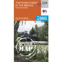 Thetford Forest in the Brecks by Ordnance Survey (Sheet map, folded, 2015)