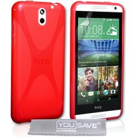 YouSave Accessories HTC Desire 610 X-Line Gel Case - Red