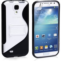 YouSave Accessories Samsung Galaxy S4 Leather-Effect Stand Case - Black