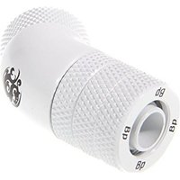 Bitspower Connection 45 1/4 inches to 10/8mm - Rotatable Deluxe White