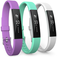 Yousave Fitbit Alta / Alta HR Strap 3-Pack Large - Violet/Mint Green/White
