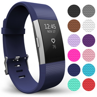 Yousave Fitbit Charge 2 Strap Single (Small) - Dark Blue