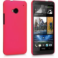 YouSave Accessories HTC One Hard Hybrid Case - Hot Pink