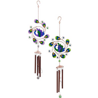 Peacock Windchime Pack Of 2