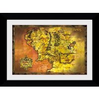 Lord Of The Rings Classic Map Collector Print