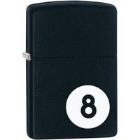 Zippo 8 Ball Black Matte Windproof Lighter