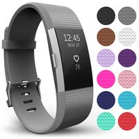 Yousave Fitbit Charge 2 Strap Single (Large) - Grey