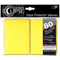 Ultra Pro Eclipse PRO-Matte Yellow Standard 80 Sleeves (case of 6)