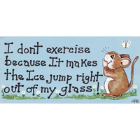 I Don't Exercise Because It Makes… Pack Of 12
