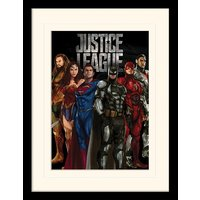Justice League Movie - Stand Tall Mounted & Framed 30 x 40cm Print