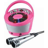 Groov-e Portable Karaoke Boombox with CD Player and Bluetooth Playback Pink UK Plug