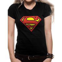 Superman - Logo Women's X-Large Fitted T-Shirt - Black