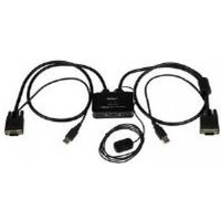 StarTech 2 Port USB VGA Cable KVM Switch (USB Powered with Remote Switch)