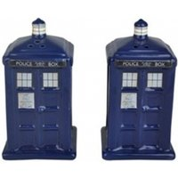 Doctor Who TARDIS Shaped Ceramic Salt and Pepper Shakers