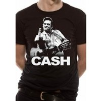 Johnny Cash Finger T-Shirt X-Large - Black
