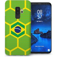CASEFLEX SAMSUNG GALAXY S9 PLUS BRAZIL FOOTBALL PATTERN WORLD CUP CASE / COVER (3D)