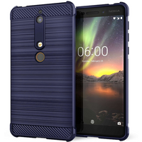 Nokia 6 (2018) Carbon Anti Fall TPU Case - Blue