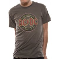 AC/DC Australia Est 1973 T-Shirt Small - Grey