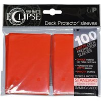 Image of Ultra Pro Eclipse PRO-Matte Apple Red Standard 100 Sleeves (case of 6)