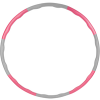 ProWorks Weighted Exercise Hula Hoop - Pink/Grey