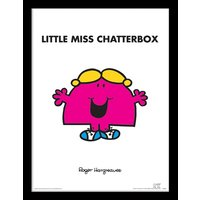 Little Miss - Little Miss Chatterbox Framed 30 x 40cm Print
