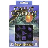 Q-Workshop Call of Cthulhu Horror on the Orient Express Black Purple Dice Set