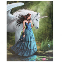 Small Enchanted Pool Canvas Picture by Anne Stokes
