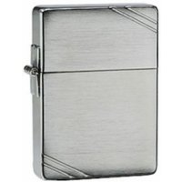 Zippo 1935 Replica With Slashes Brushed Chrome Windproof Lighter