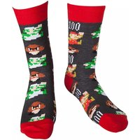 Nintendo Super Mario Bros. Men's Size 39/42 Mario Pixel Art Socks