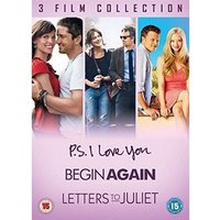 3 Film Collection - P.S. I Love you Begin Again Letters to Juliet