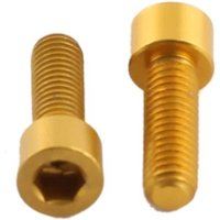 ETC Alloy Bolts Coloured Cheese Head (4) M5 x 15mm Gold